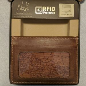 Nash Leather Slim Credit And ID Case
